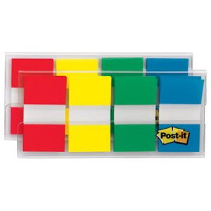Post-it Flags Portable Dispenser, Standard, 160 Flags (MMM680RYGB2)