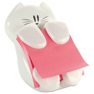 Post-it Pop-Up Note Dispenser Cat Shape, 3 x 3, White (MMMCAT330)