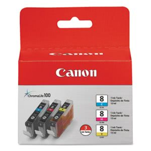 Canon Chromalife Ink, 840 Yield, 3 Pack, Cyan, Magenta, Yellow (CNM0621B016)