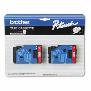 Brother P-touch TC Tape Cartridges for P-Touch Labelers, 1/2w, 2/Pack (BRTTC11)