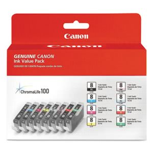 Canon 0620B015 (CLI-8) Ink Tank, 8/Pack, Assorted (CNM0620B015)