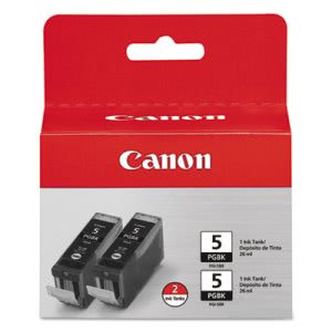Canon 0628B009 (PGI-5BK) Ink Cartridge, Black, 2/Pack (CNM0628B009)