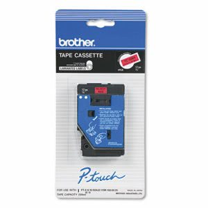 Brother P-Touch TC Tape Cartridge for P-Touch Labelers, Black on Red (BRTTC5001)