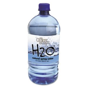 Office Snax H2O Natural Spring Water, 1 Liter, 12 Bottles (OFX00026)