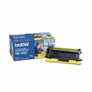 Brother TN110Y Toner Cartridge, 1500 Page-Yield, Yellow (BRTTN110Y)