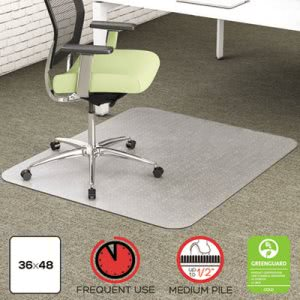 Deflect-o Environmat PET Studded Chair Mat, 36w x 48l, Clear (DEFCM1K142PET)