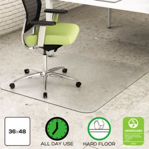 Deflect-o Environmat PET Chair Mat, 36w x 48l, Clear (DEFCM2G142PET)
