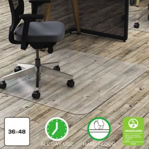 Deflect-o Polycarbonate Chair Mat, 36w x 48l, Clear (DEFCM21142PC)