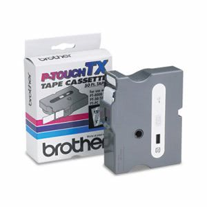 Brother P-touch TX Tape Cartridge for PT-8000, 1w, White on Clear (BRTTX1551)