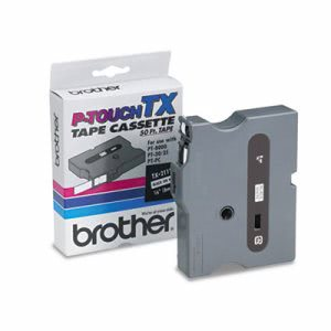 Brother Tape Cartridge for PT-8000, PT-PC, Black on White (BRTTX2111)