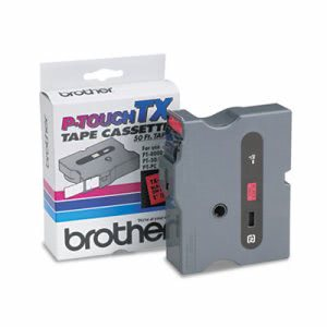 Brother Tape Cartridge for PT-8000, PT-30/35, 1w, Black on Red (BRTTX4511)