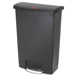 Rubbermaid Slim Jim 24 Gallon Step-On Container, Black (RCP1883615)
