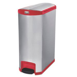 Rubbermaid 1902003 Slim Jim 24 Gallon Step-On Trash Can, Red (RCP1902003)