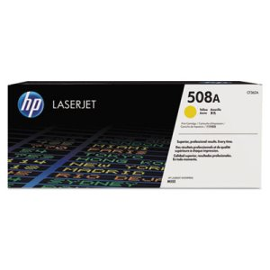 HP 508A, (CF362A) Yellow Original LaserJet Toner Cartridge (HEWCF362A)