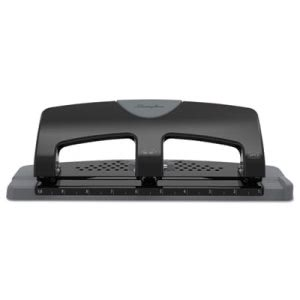 "Swingline 20-Sheet SmartTouch 3 Hole Punch, 9/32"" Holes, Black/Gray (SWI74133)"