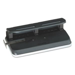 "Swingline 24-Sheet Easy Touch 3-7 Hole Punch, 9/32"" Holes, Black (SWI74150)"