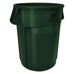 Rubbermaid 1779741 Brute 44 Gallon Trash Can, Dark Green (RCP1779741)