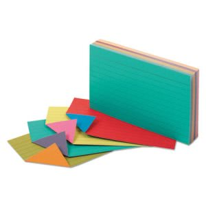 Oxford Extreme Index Cards, 3 x 5, Vivid Assorted, 100/Pack (OXF04736)