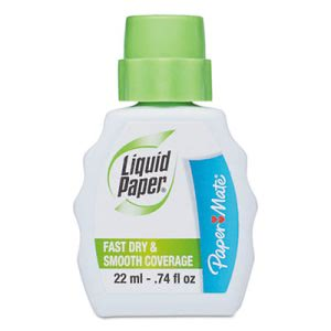 Paper Mate Liquid Paper Correction Fluid, 22 ml Bottle, 12 Bottles (PAP5640115)