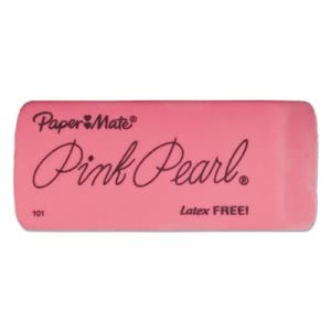 Paper Mate Pink Pearl Eraser, Latex Free, Large, 3 Erasers (PAP70501)