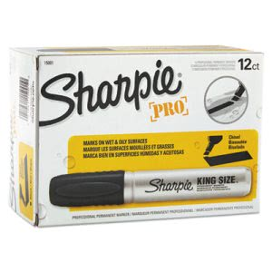 Sharpie 15001 King Size Permanent Marker, Black, 12 Markers (SAN15001)