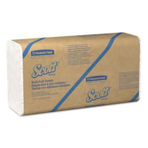 Scott Recycled White Multi-Fold Hand Towels, 16 Packs (KCC01807)