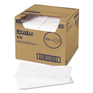 Wypall* X70 Wipers, Quarterfold, 12 1/2 x 23 1/2, White, 300/Box (KCC05925)