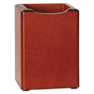 Rolodex Wood Tones Pencil Cup, Mahogany, 3 1/8 x 3 1/8 x 4 1/2, Each (ROL23380)
