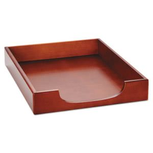 Rolodex Wood Tones Letter Desk Tray, Wood, Mahogany (ROL23350)