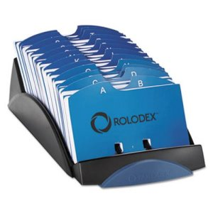 Rolodex Open Tray Card File, Holds 500 2 1/4 x 4 Cards, Black (ROL66998)