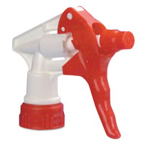 Boardwalk Trigger Sprayer 250 for 32oz Bottle, Red/White, 24 Sprayers (BWK09229)
