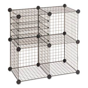 Safco Wire Cube Shelving System, 14w x 14d x 14h, Black (SAF5279BL)