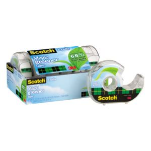 "Scotch Magic Tape in Refillable Dispenser, 3/4"" x 600"", 6 Rolls (MMM6123)"