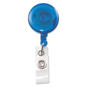 "Advantus Translucent ID Card Reel, 34"" Extension, Blue, 12 per Pack (AVT75472)"