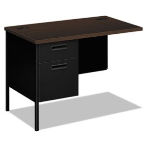 Hon Metro Classic Series Workstation Return, Left, 42w x 24d, Mocha/Black (HONP3236LMOP)