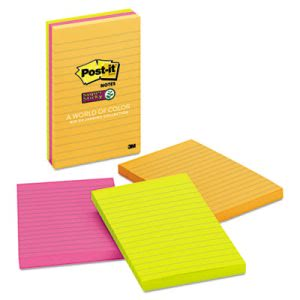 Post-it Super Sticky Pop Notes, 4 x 6, Lined, 3 - 90-Sheet Pads (MMM6603SSUC)