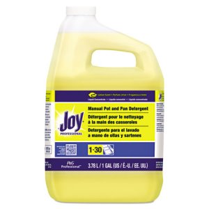 Joy 57447 Manual Pot & Pan Liquid Detergent, Lemon, 1 Gallon Bottle (PGC57447EA)