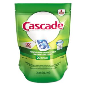 Cascade Automatic Dishwasher Detergent 2-in-1 Action Pacs, 5 Bags (PGC 41759CT)