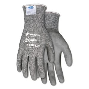 Memphis Ninja Force Polyurethane Coated Gloves, Extra Large, Gray (CRWN9677XL)