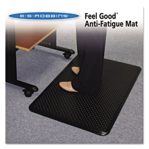 ES Robbins Feel Good Anti-Fatigue Floor Mat, 36 x 24, PVC, Black (ESR184552)