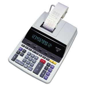 Sharp Two-Color Printing Calculator, 12-Digit Fluorescent (SHREL2630PIII)