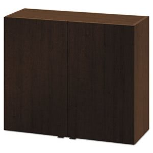 Hon Hospitality Wall Cabinet, Two Doors, 36w x 14d x 30h, Mocha (HONHPHC2D36MO)