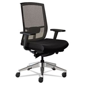 Mayline Gist Task Plus+ Chair, Black/Silver (MLNGS33SVRBLK)