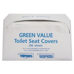 Gen Half-Fold Toilet Seat Covers, White, 5000 Covers (TEHGVTSC5000)