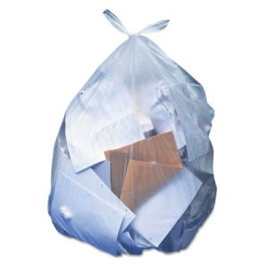 60 Gallon Clear Garbage Bags, 38x58, 1.5 mil, 100 Bags (HERH7658SC)