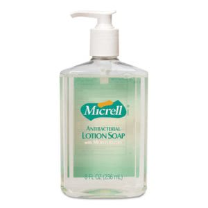 Gojo Antibacterial Lotion Soap, Unscented Liquid, 8 oz Pump (GOJ975212EA)