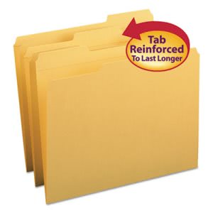 Smead File Folders, 1/3 Cut, Top Tab, Letter, Goldenrod, 100 per Box (SMD12234)