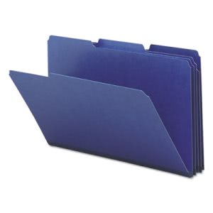 "Smead Recycled Folders, 1"" Expansion, 1/3 Tab, Legal, Blue, 25/Box (SMD22541)"