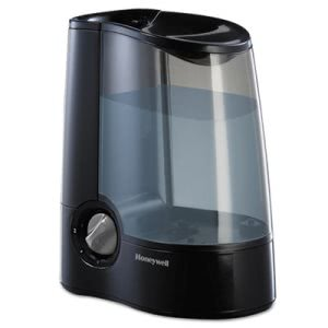 Honeywell Warm Mist Humidifier, 1.2 Gallon, Black, 1 Each (HWLHWM705B)