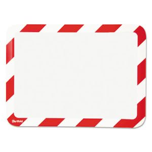 Magneto Self-Adhesive Safety Frame Display Pockets, Red & White (TFIP194993)